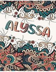 ALYSSA GIFT: Beautiful Alyssa Name Journal (Lined Notebook - Card Alternative)
