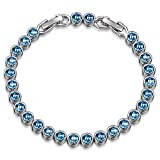 Amazon Price History for:Christmas Gifts Bracelet LadyColour Blue Aquamarine Tennis Bracelet Swarovski Crystals Jewelry for Women Birthday Gifts for Women Teens Girls Wife Mom Grandma Sister Kids Anniversary Gifts for Her