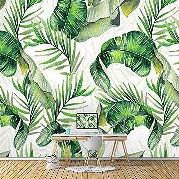 Lzhenjiang Wandbilder 5 D Banana Leaf Palm Leaf Tropischen Regenwald Tapete  Wohnzimmer Schlafzimmer Südost Asiatische Restaurant