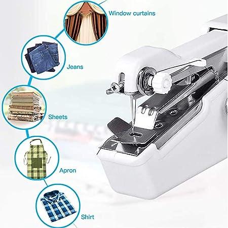 EEX Portátil Máquina de Coser de Mano, Mini Máquina de Coser Eléctrica Inalámbrica para Niños Principiantes Costura ...