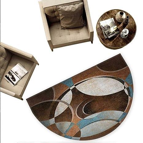 Amazon.com: Cojín semicircular abstracto con fondo de escala ...