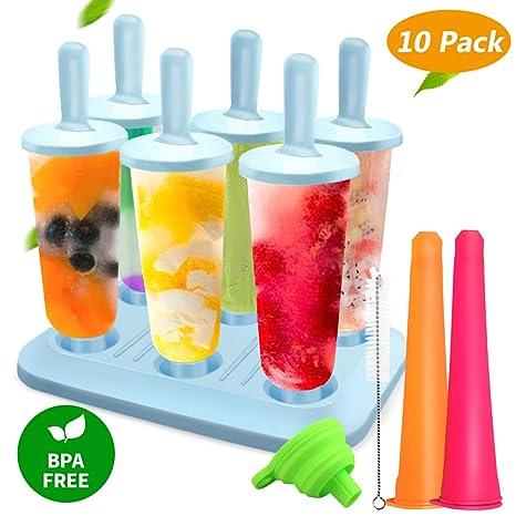 Molde para Helados, Joylink Moldes de Paletas BPA y Reutilizable Moldes de Polos Frozen Yogurt
