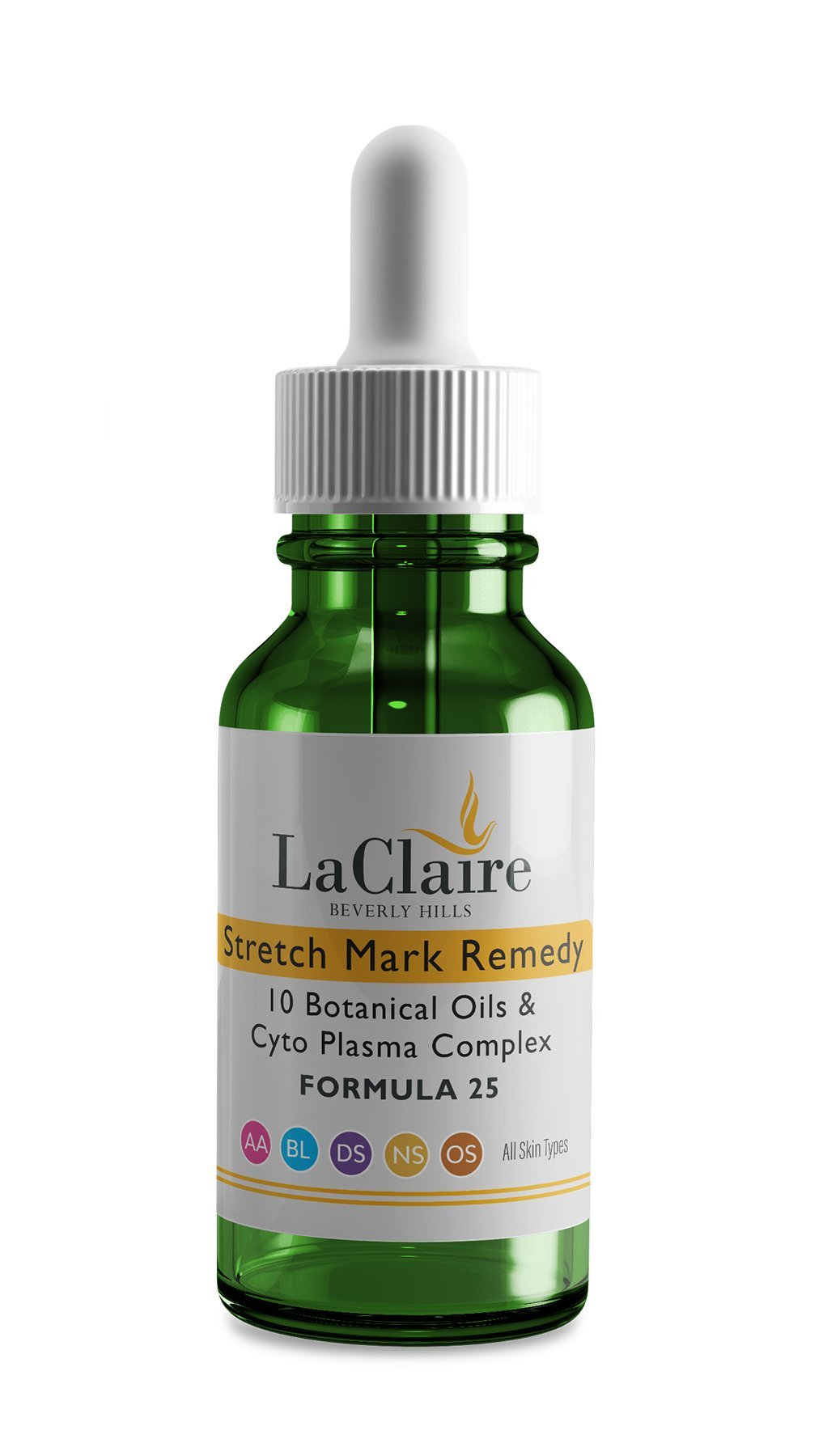 LaClaire Stretch Mark Remedy With Breakthrough Formulation of Ten Natural Botanical Oils & Cyto Plasma Complex