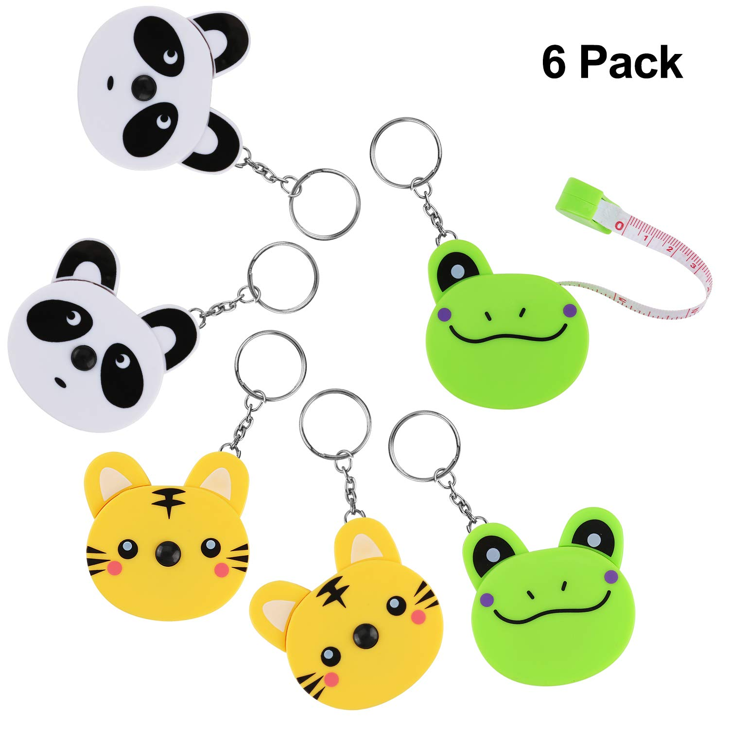 Measuring Tape Measure, RETRACTABLE, 60-INCH 1.5 METER, EASY TO READ, POCKET SIZE, SOFT, Body Tailor Sewing Craft Cloth Tape Measure, GIFT Tape Measure, CUTE ANIMAL