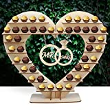 Aerwo Mr & Mrs Chocolate Stand, Ferreo Rocher Wooden Chocolate Stand, Hershey Kisses Wedding Candy Stand, Perfect Decoration for Wedding Reception