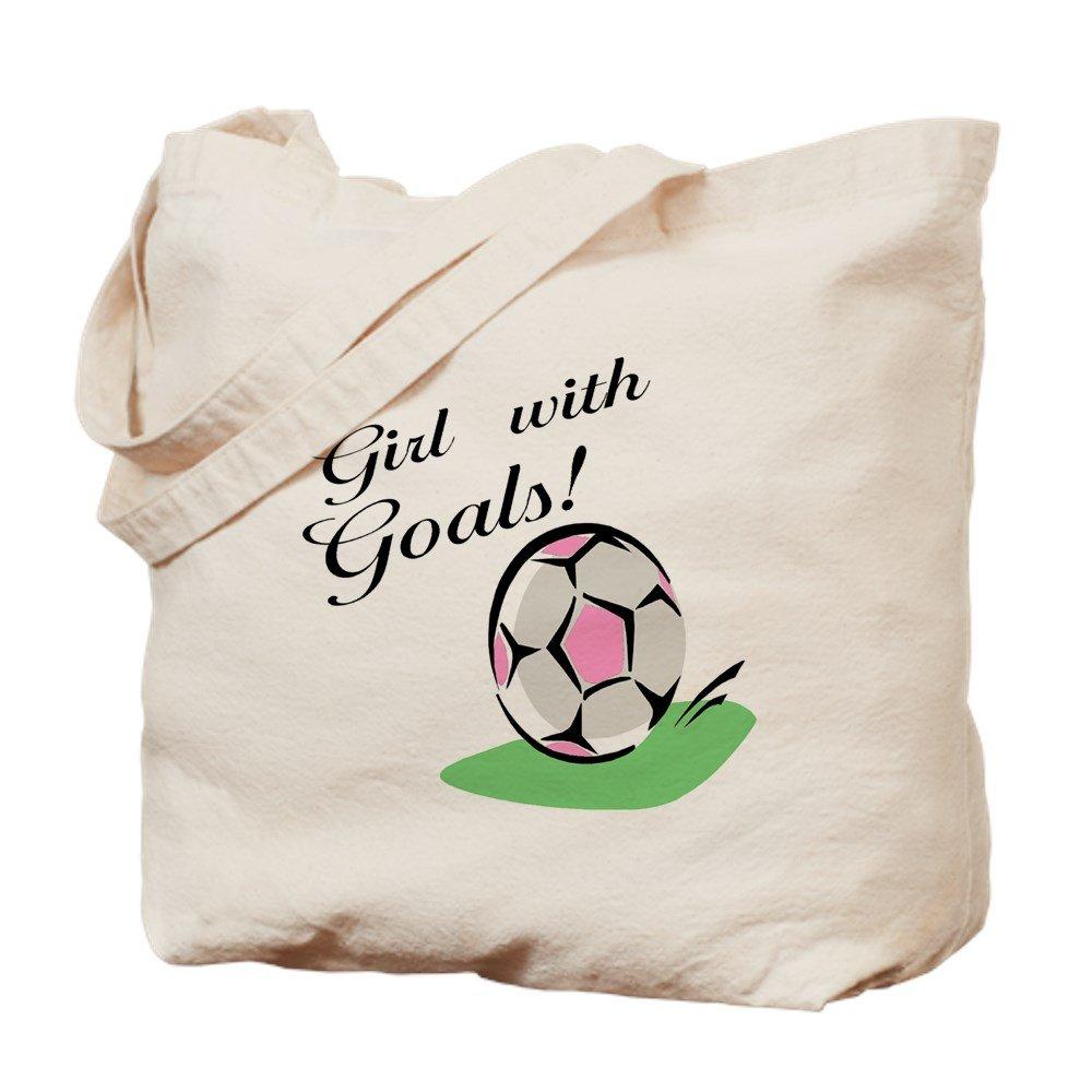 CafePress – 女の子と目標 – ナチュラルキャンバストートバッグ、布ショッピングバッグ M ベージュ 03009010526893C B073QTFFJK MM