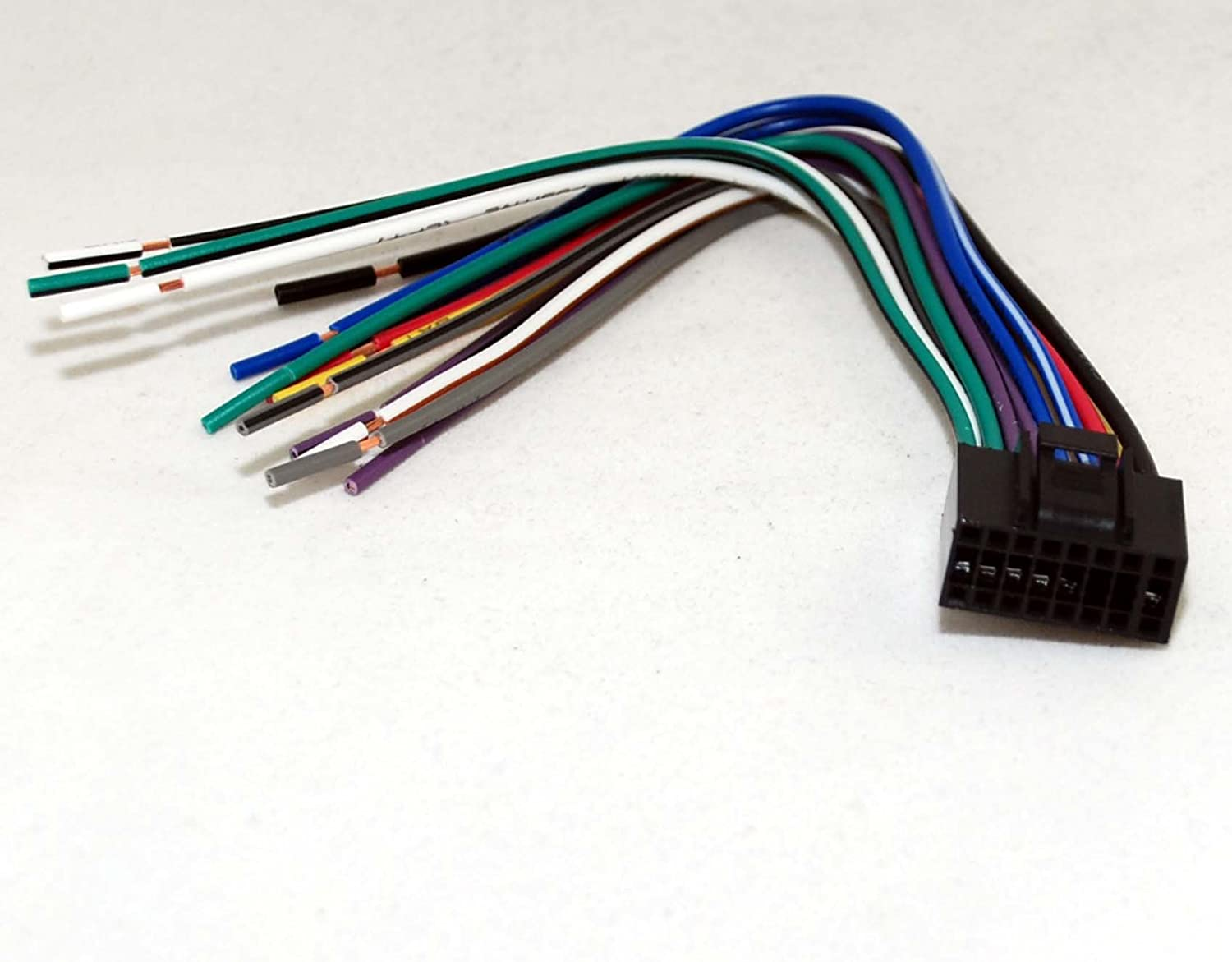 61Rzeblbo0L._SL1500_ amazon com xtenzi harness for dual 16 pin wire harness xdvd8181 dual stereo wiring harness at couponss.co