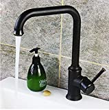 Hiendure Oil Rubbed Bronze Antique Kitchen Sink Faucet with Swivel Spout