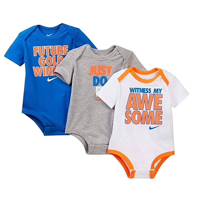 abf8869e9b0 Nike Air Jordan Fly Like Mike 3-Piece Baby Bodysuit Set: Amazon.ca: Clothing  & Accessories