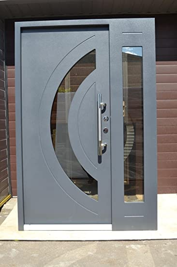 Haustüren mit seitenteil anthrazit  Nr.7, Design Haustür, Wohnungstür in Anthrazit 1400x2100 mm, Innen ...