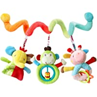 TOYANDONA Baby Car Seat Toys Stroller Toy Elephant Pattern Spiral Activity Toy Baby Rattle Teether Toy