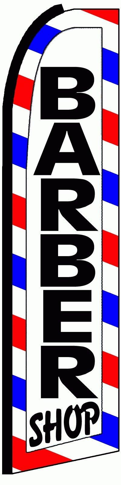 NEOPlex Barber Shop Swooper Flag