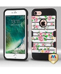 Apple iPhone 7 Pink Fresh Roses Rose Gold Brushed TUFF Hybrid Case