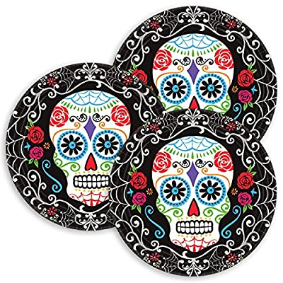 Day of The Dead Round Plates, 10 1/2