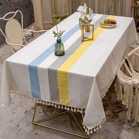 WENXIAOXU Rectangular Mantel Cocina Salón Limpiar Lavable Cuidado ...