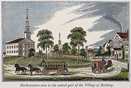 Roxbury Massachusetts Na View Of The Center Of Roxbury Massachusetts American Engraving 1839 Poster Print by (24 x 36)
