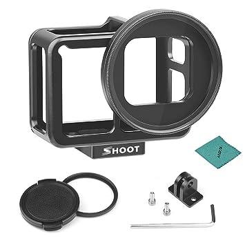 SHOOT XTGP507B CNC - Carcasa Protectora para cámara GoPro Hero 7 Black/Hero 6/Hero 5 (aleación de Aluminio, con Objetivo UV de 52 mm)