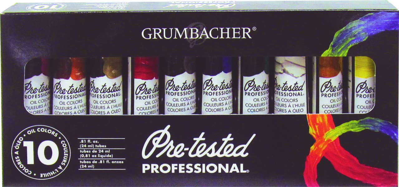 Amazon Grumbacher Pre Tested Oil Paint 24ml081 Oz Tube 10