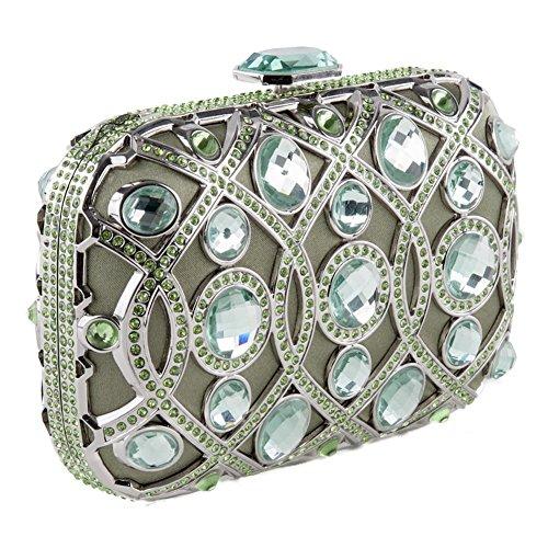 Bolsa de embrague, Marinetta Verde, tela
