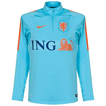 Nike KNVB Drill Top - Camiseta de fútbol para Hombre, Color Azul Claro/ Naranja