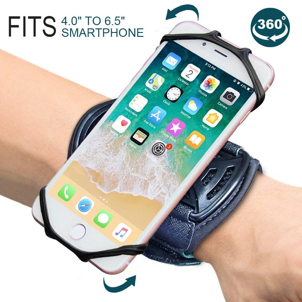 Armband iPhone X/iPhone 8 Plus/ 8/7 Plus/ 6 Plus/ 6, Galaxy S8/ S8 Pl us/ S7 Edge, Note 8 5, Google Pixel, 360° Rotatable Key Holder Phone Sports Armband Phone Holder