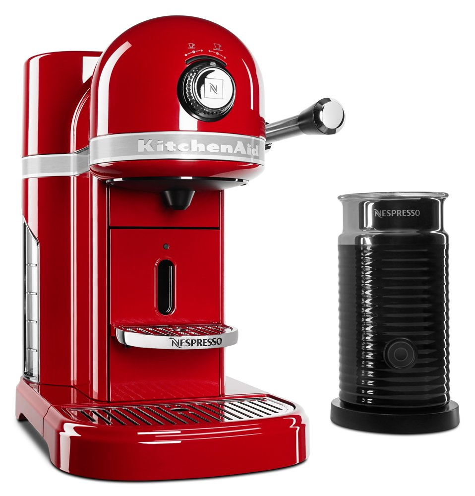 KitchenAid KES0504ER Nespresso Bundle, Empire Red by KitchenAid