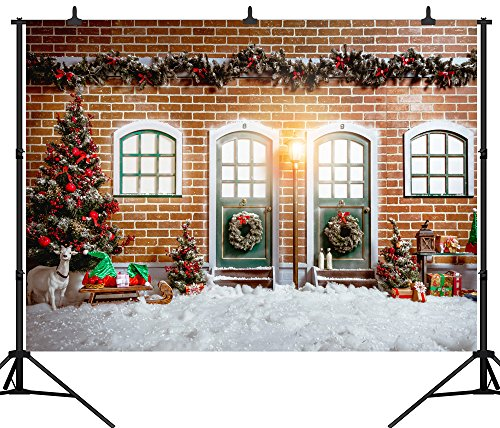 DePhoto 10X8FT(300X240CM) Merry Christmas Party Theme Customized Seamless
