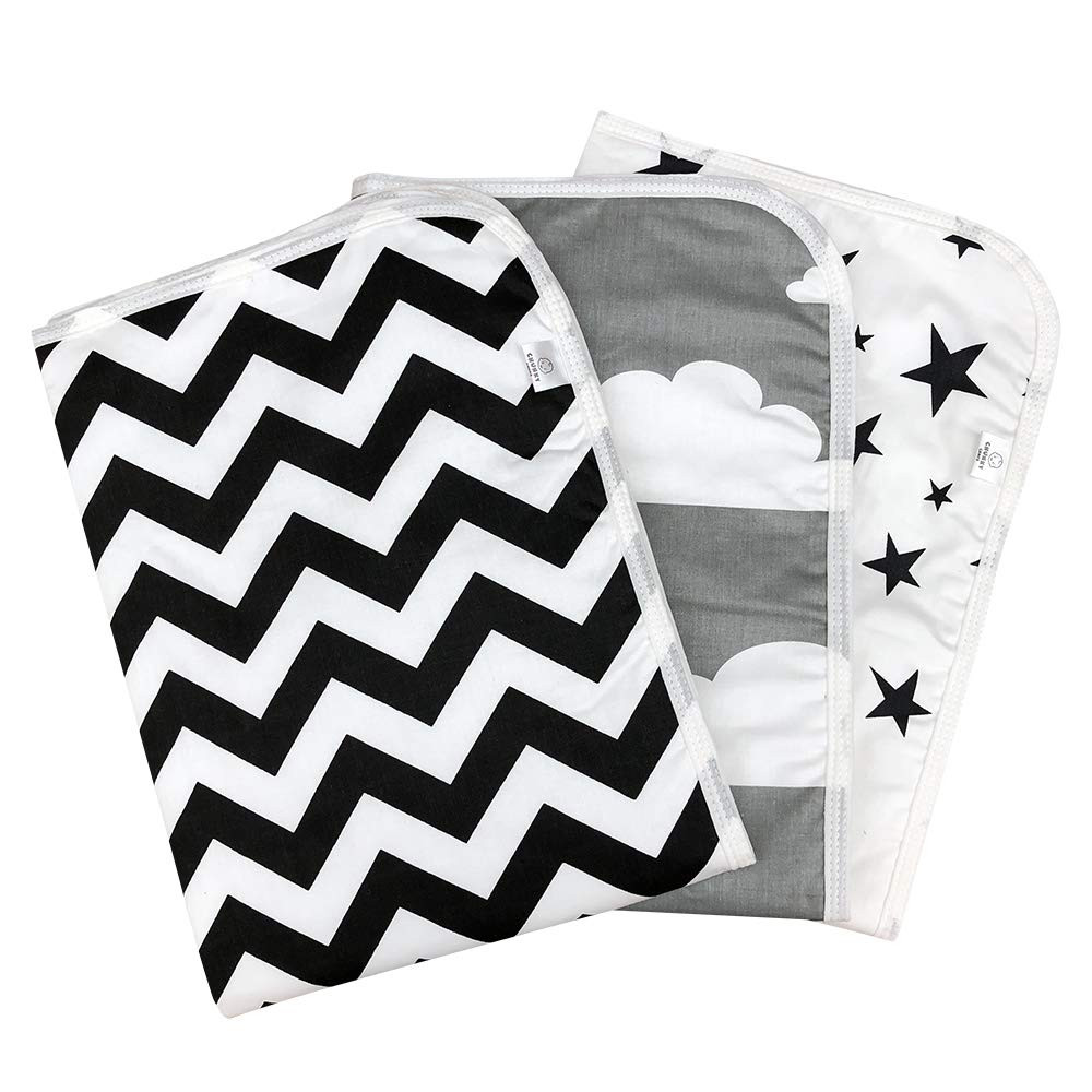 Chunky Chops | Premium Changing Pad Liner | Waterproof | 3 Count | 27.5'' X 19.5'' Monochrome by Chunky Chops