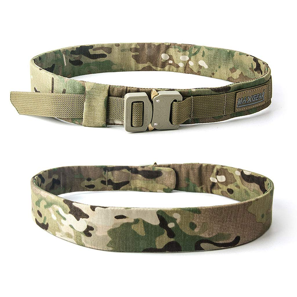 Mei Xu Belt Tactical Inner Belt Customized Version Outdoor Sports and Leisure Personality Training Nylon Belt [Customized Version 2 Color Optional] (Color : A) Mei Xu Shop
