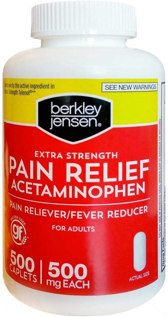 Berkley Jensen Extra Strength Pain Reliever, 500 ct