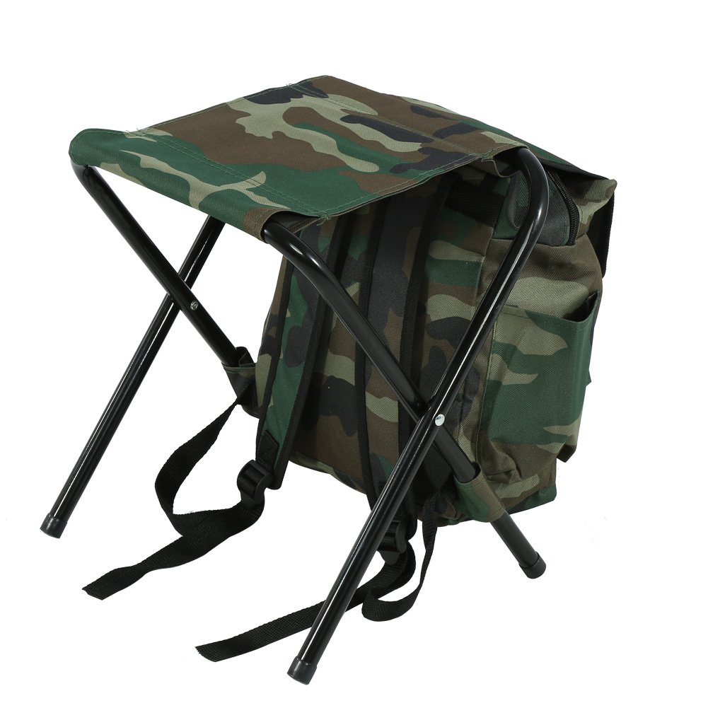 Amazon.com : Dilwe Folding Camping Chair, Backpack Stool with Cooler Insulated Picnic Bag for Outdoor Indoor Fishing Travel Beach BBQ : Sports & Outdoors