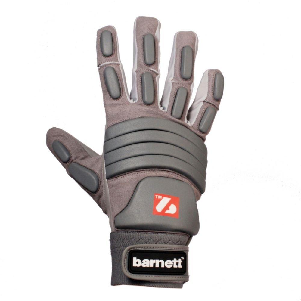 FLG-03 guantes de fútbol americano linemen pro , OL,DL (Gris, M) barnett