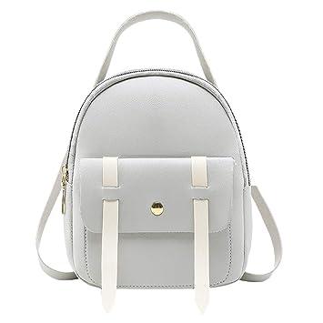 f2c6585e Wulofs Fashion Women Girl Travel Students Hit Color School Bag Backpack  Shoulder Bag Lightweight Back Pack