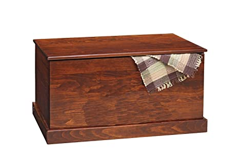 American Made Furniture >> Amazon Com Amish Pine Hope Chest American Made Storage