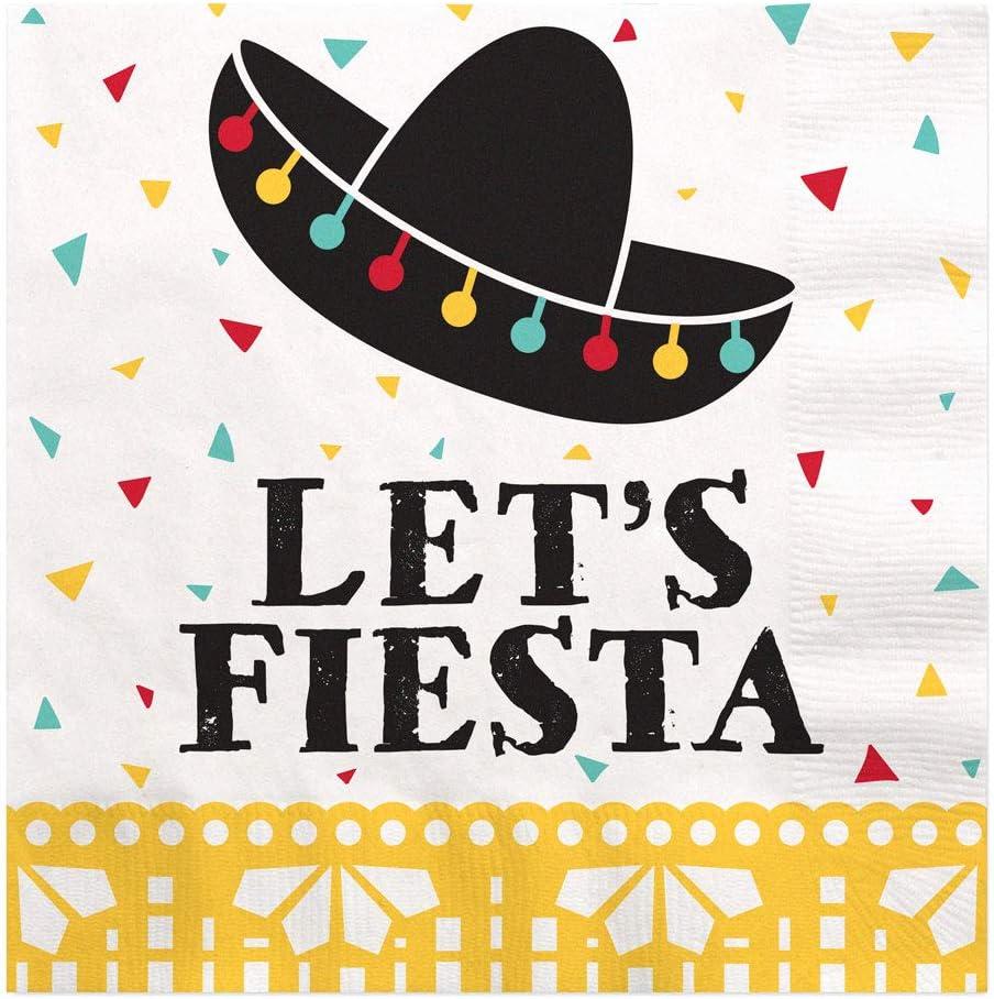 Big Dot of Happiness Let's Fiesta - Mexican Fiesta Luncheon Napkins (16 Count)