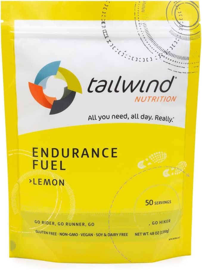 Tailwind Nutrition Lemon Endurance Fuel 50 Serving - Hydration Drink Mix with Electrolytes, Carbohydrates - Non-GMO, Gluten-Free, Vegan, No Soy or Dairy: Health & Personal Care