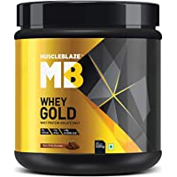 MuscleBlaze Whey Gold Protein Isolate, 0.5 kg/1.1 lb (Rich Milk Chocolate)