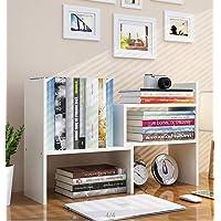 Expandable Wood Desktop Bookshelf Desktop Organizer Office Storage Rack Wood Display Shelf - Free Style Display True…