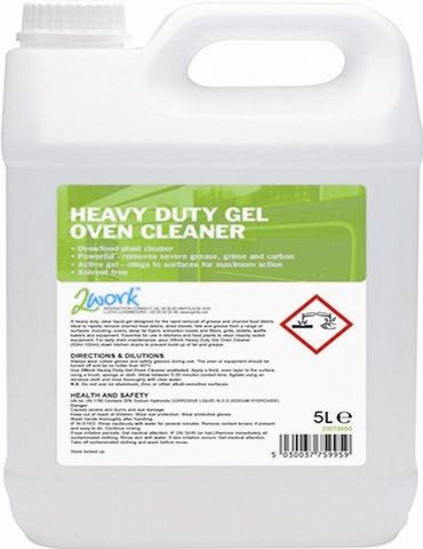 2WORK 2W75995 Heavy Duty Gel Oven Cleaner, 5 L VOW
