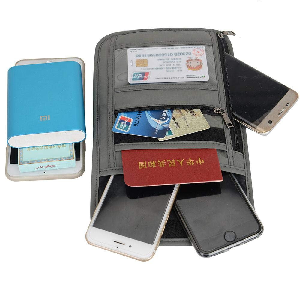 Unisex Premium Traveling Pouch Waterproof Transparent Passport Holder RFID Case Multifunctional Travel Document Package
