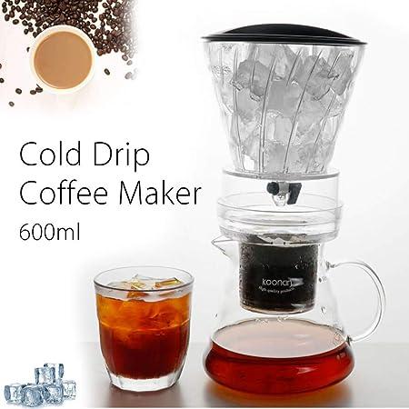 SYSWJ Cafetera 600Ml/1000Ml Water Drip Coffee Machine Reusable Glass Coffee Dripper Pot Ice Brew Cold Drip Coffee Maker,600Ml: Amazon.es: Hogar