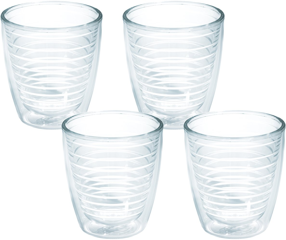 Tervis 1005762 Clear & Colorful, Clear Tumbler 4 Pack 12oz, Clear by Tervis