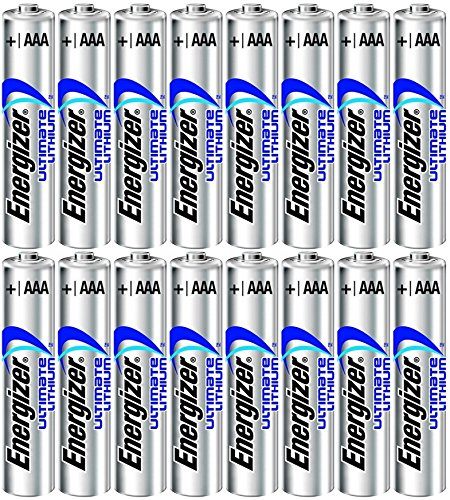 16 AAA 1.5V Energizer Ultimate Lithium FR03 Fresh Batteries