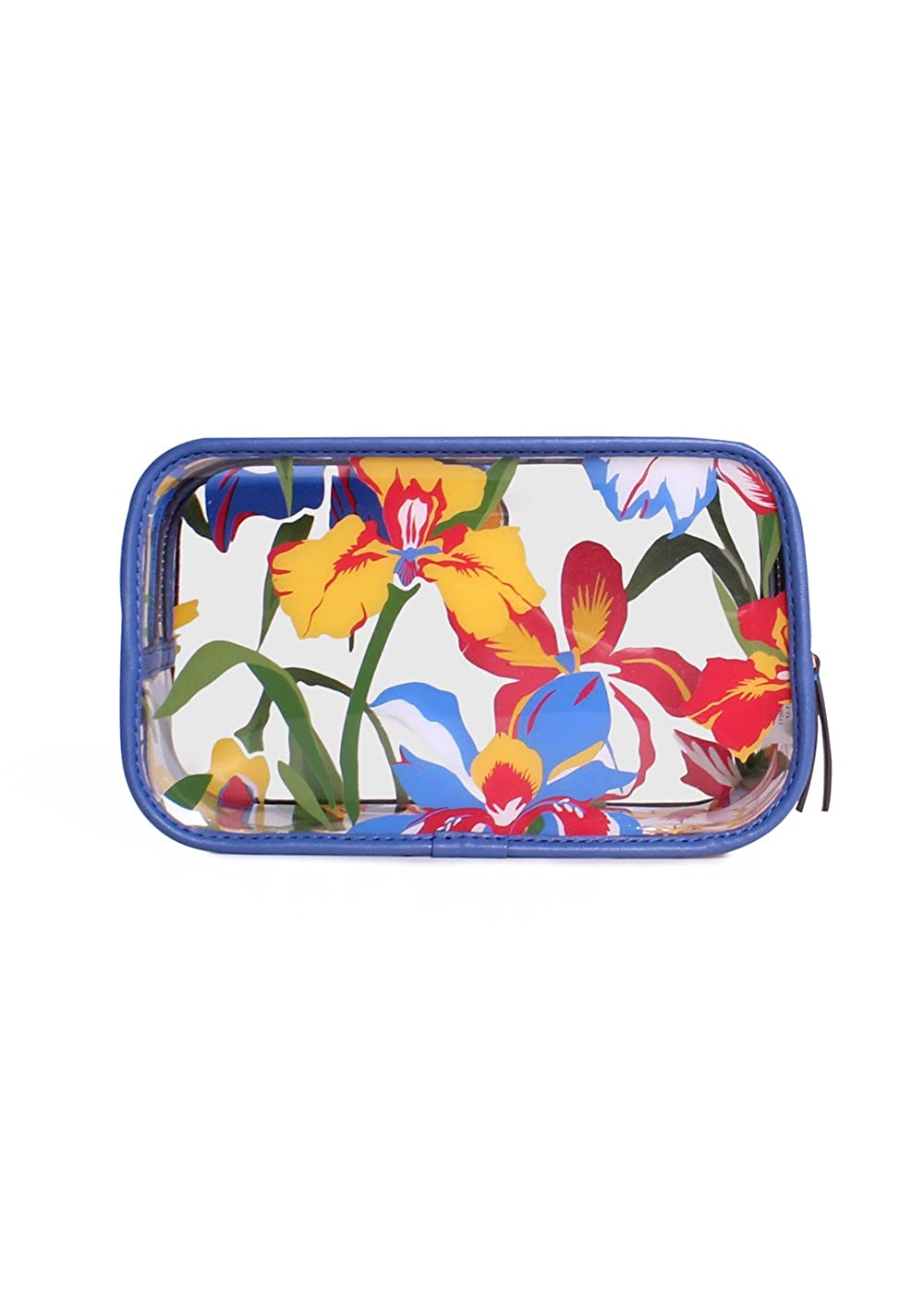 f1252b181797 Tory Burch Floral PVC Cosmetic Case in Painted Iris  Amazon.co.uk  Clothing