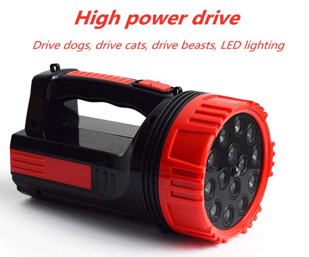 Led Rechargeable Handheld Ultrasonic Repeller/Searchlight 2 in 1 High-Power Snake Drive, Wild Boar Animal Drive Super Bright Lantern Flashlight for Outdoor by W&HH