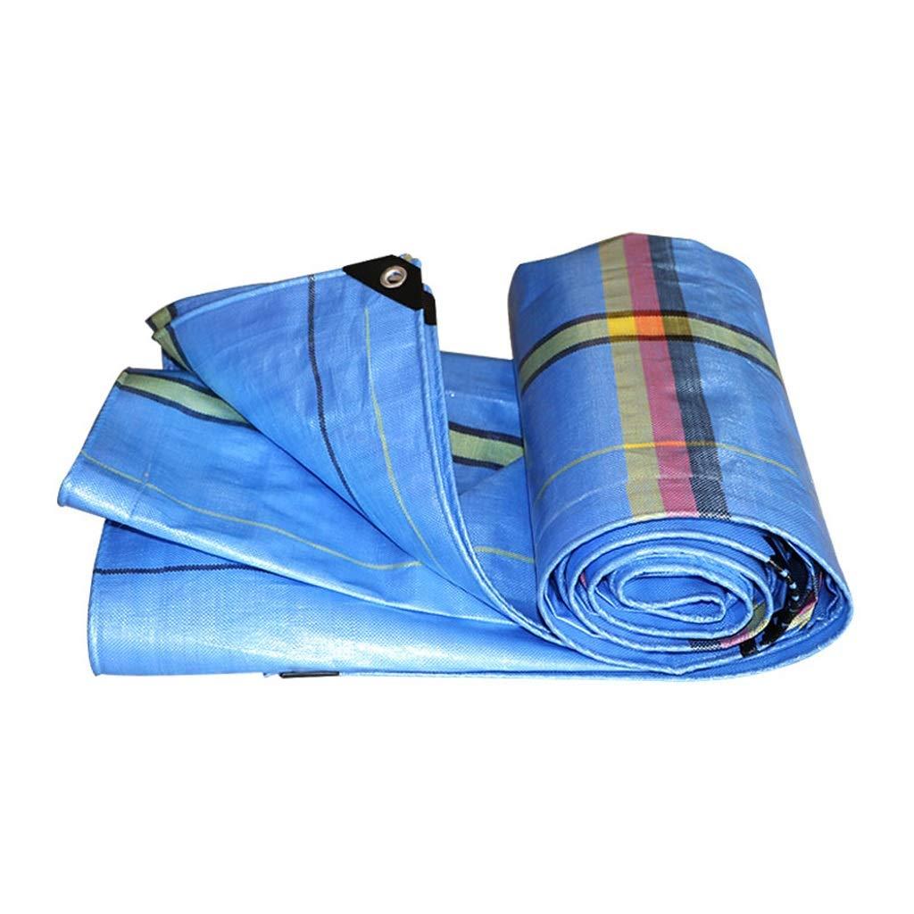 YEIUY Wasserdichte Regenschutzplane, blaues Leichtes Sonnenschutzgewebe im Freien Verdickte Gewebte Staubplane der hohen Dichte, Fischenpicknick, Verschiedene Größen