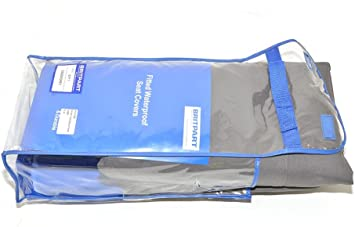 DA2805GREY RANGE ROVER P38 FRONT WATERPROOF GREY SEAT COVER SET