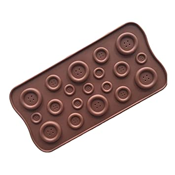Molde de silicona para horno con forma de botón para tartas, galletas, fondant, chocolate: Amazon.es: Hogar