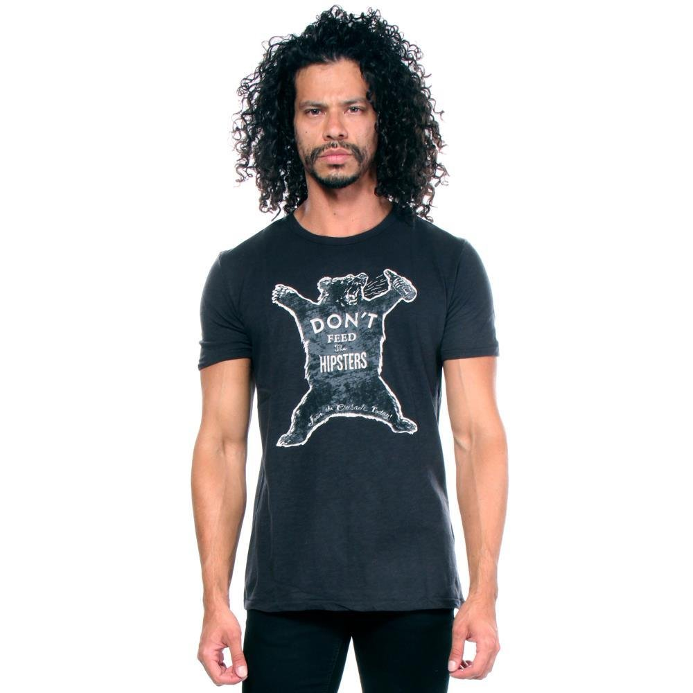 Lucky Brand Men's Don't Feed The Hipsters Graphic Tee, Jet Black, X-Large