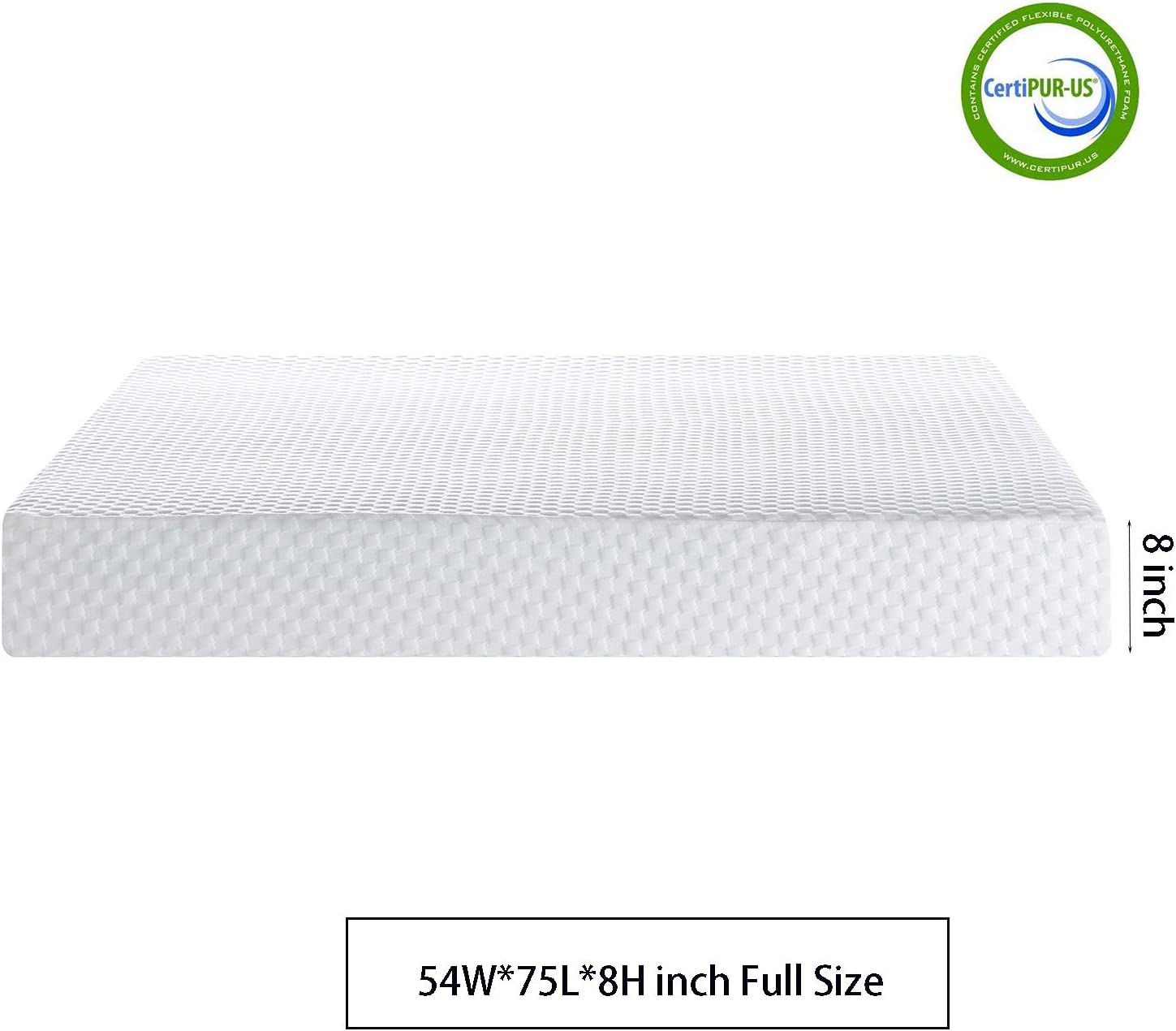 8 inch Full Size Mattress,JULYFOX Cooling Gel Memory Foam Mattress Medium-Firm Feel 3 Layer Foam ONLY Full Mattress for Bunk Bed Kid s Bed 10 Year 10 Year Durable